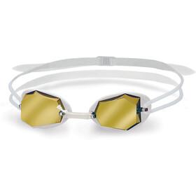 Head Diamond Mirrored Gafas de natación, white - white - clear